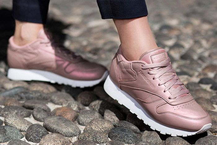 Reebok Classic Leather Pearl Pack Womens Rose Pink 2