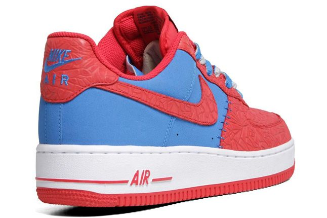 Nike Air Force 1 Le Godzilla Pack Red Blue Heel 1