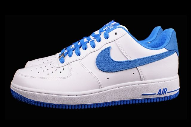 Nike Air Froce 1 Photo Blue Suede 4