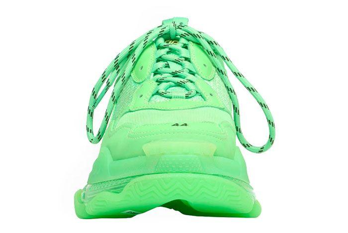 Balenciaga Triple S Neon Green Front