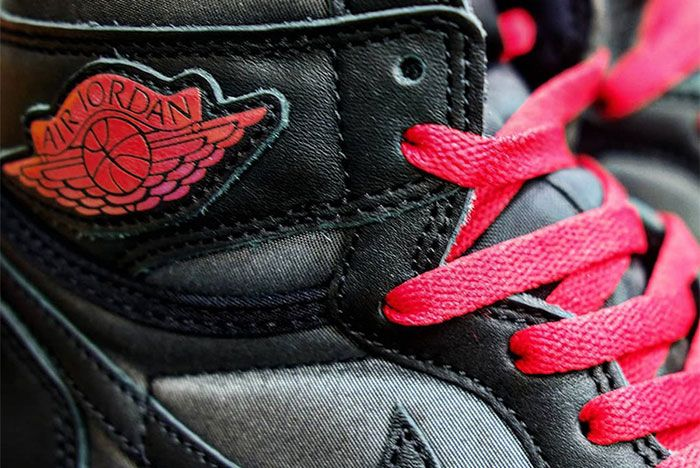 Air Jordan 1 Black Satin Logo