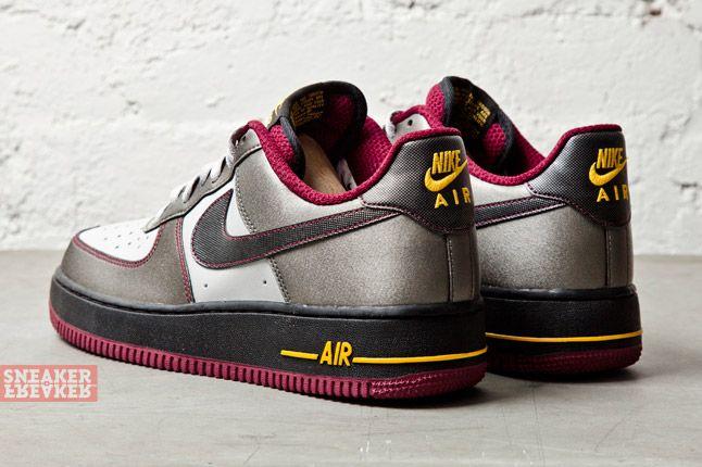Nike Air Force 1 Dusty Grey Metallic Pewter Cherry 3