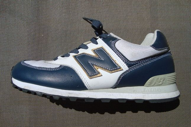 New Balance White Blue Gold 1