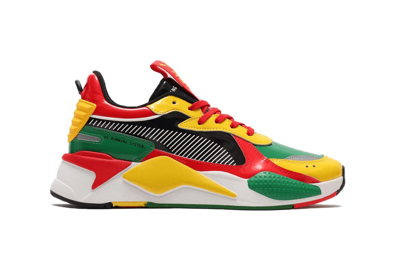 Atmos Puma Rs X Yellow Red Green Lateral Side Shot