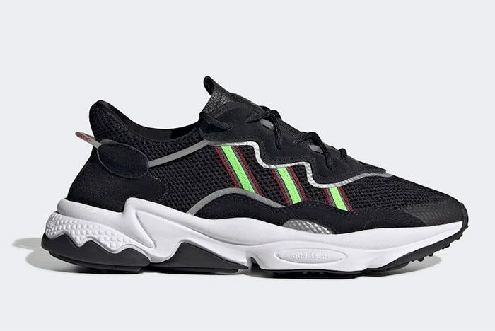 Adidas Ozweego Black Green White Right