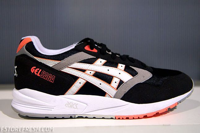 Asics Gel Saga Black White Infrared 1 1