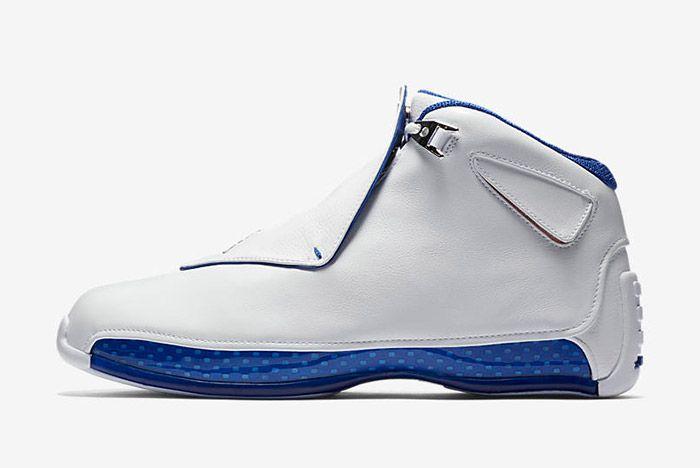 Air Jordan 18 White Sport Royal 2018 Retro Sneaker Freaker 2