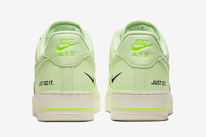 Nike Air Force 1 Low Neon Yellow Ct2541 700 Heel