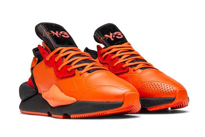 Adidas Y 3 Kaiwa Orange Black Quarter