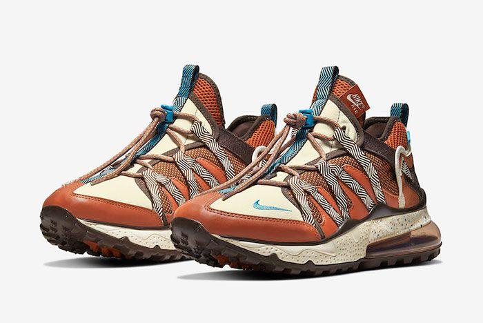 Nike Air Max 270 Bowfin Dark Russet Aj7200 202 Front Angle