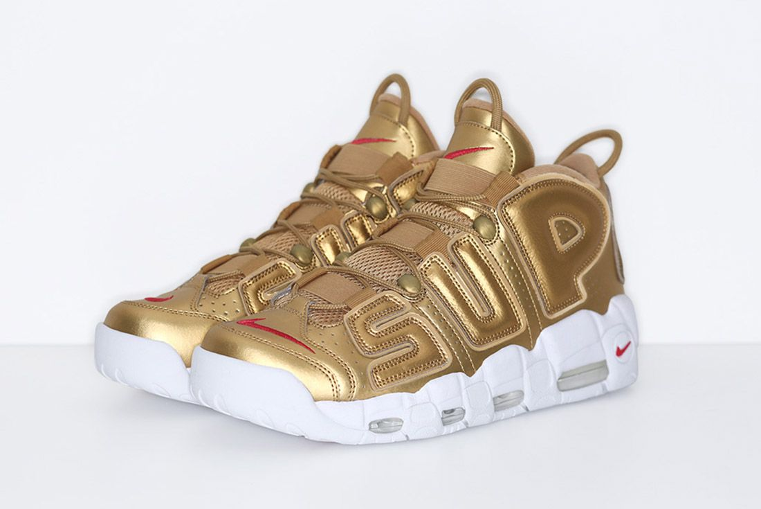 Supreme Nike Air More Uptempo Gold 2
