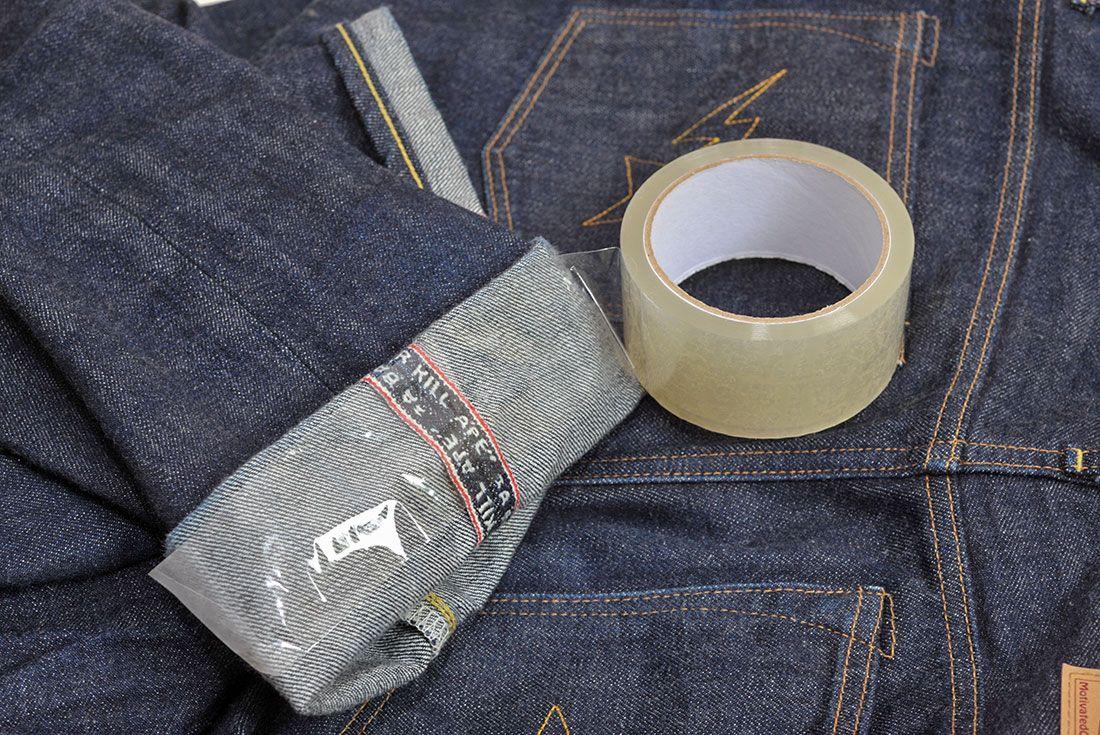 Clear Tape Denim Cuff