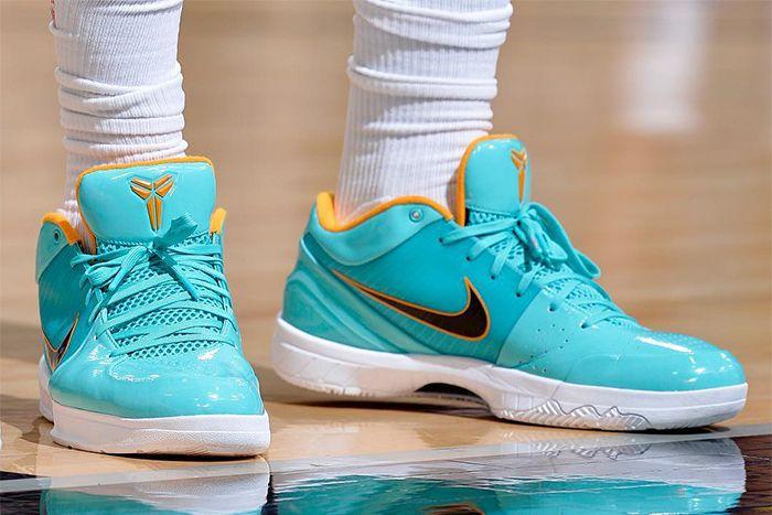 Demar Derozan Undefeated Nike Kobe 4 Protro Teal Gold Pair