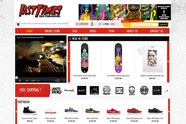Fast Times Website 1