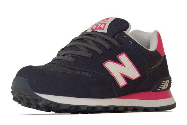 New Balance 574 Navy Pink 1