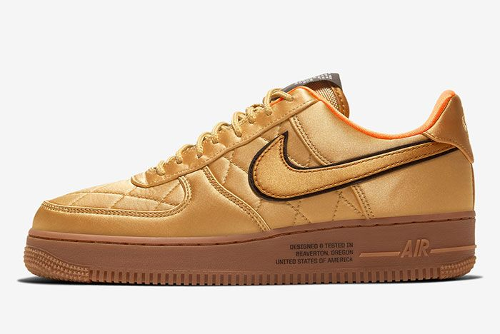 Nike Air Force 1 Low Cu6724 777 Gold Lateral