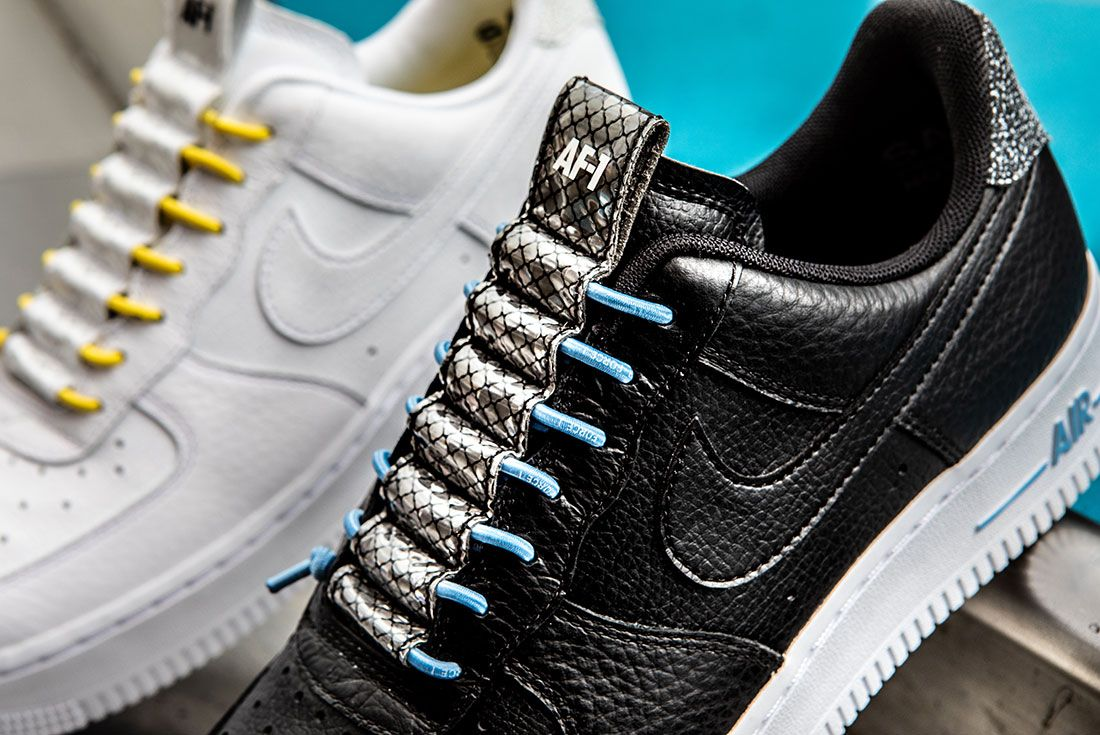 Nike Air Force 1 Womens Refective Black White8 Up Close