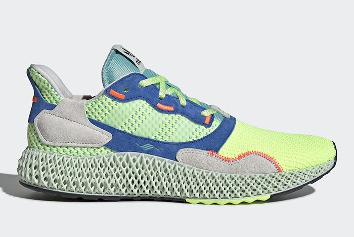 Adidas Zx 4000 4 D Easy Mint Ef9623 Lateral