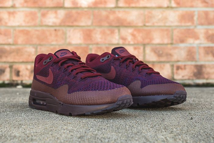 Nike Air Max 1 Ultra Flyknit Grand Purple Team Red 6