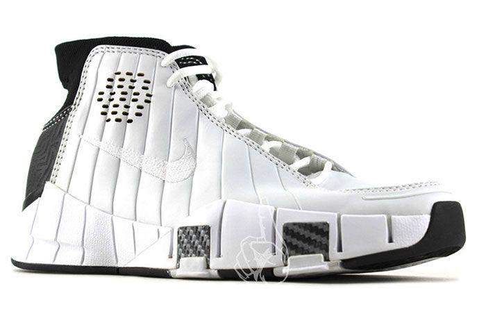 Nike Kobe 1 Prototype 2005 White Black Carbon Fiber 3