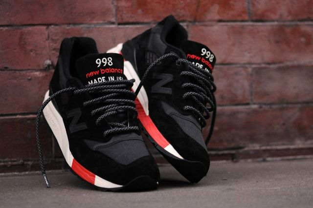 New Balance 998 Black Red 1