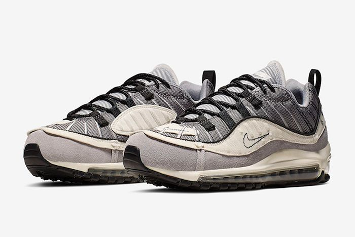Nike Air Max 98 Inside Out Grey Quarter