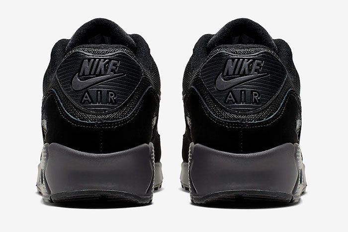 Nike Air Max 90 Black Silver Aj1285 023 Release Date 5 Heel