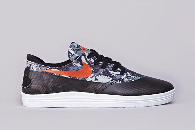 Nike Sb Lunar Oneshot Blk Org Sideview