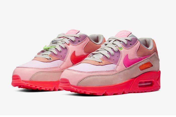 Nike Air Max 90 Prm Wmns Pink Toe