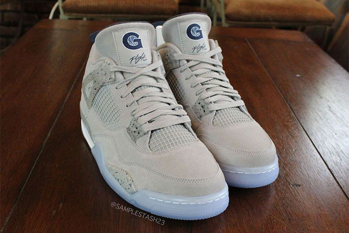 Air Jordan 4 Georgetown Toe