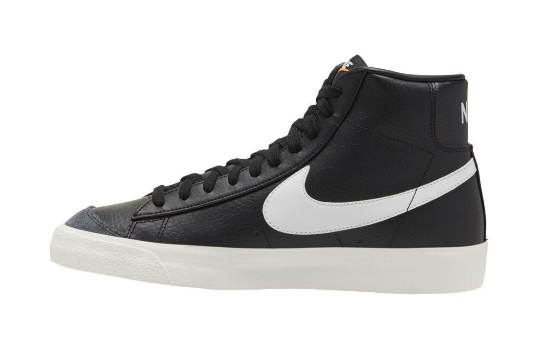 Nike Blazer Mid Black Leather Left