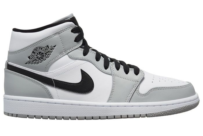 Air Jordan 1 Mid Light Smoke Grey 554724 092 Lateral