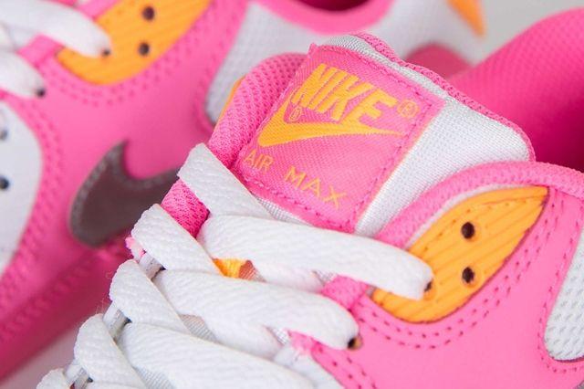 Nike Air Max 90 Gs Pink Glow Metallic Silver 3