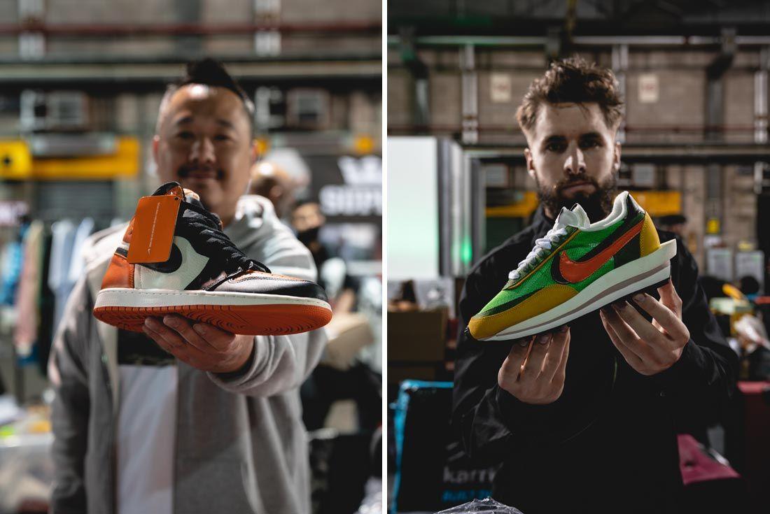 Sneakerness 2019 London Event Recap Split Shot Holding Sneakers