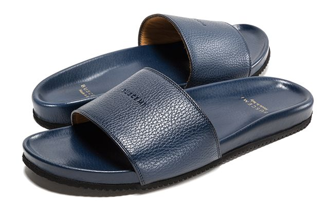 Buscemi Calfskin Leather Slides 5