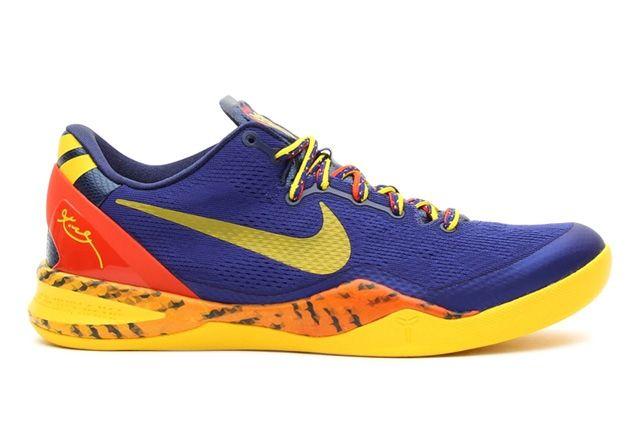 Nike Kobe 8 Deep Royal Yellow Profile