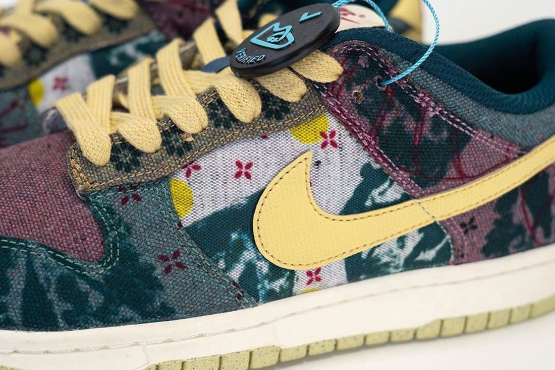 Nike Dunk Low Lemon Wash Lateral