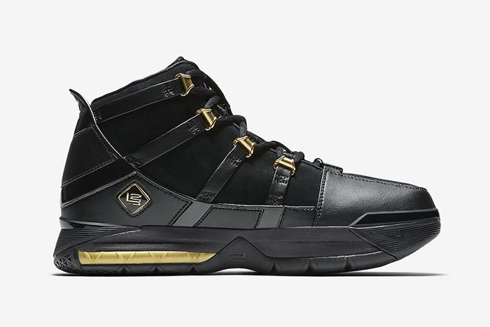Nike Zoom Lebron 3 Black Gold 2018 Retro 3