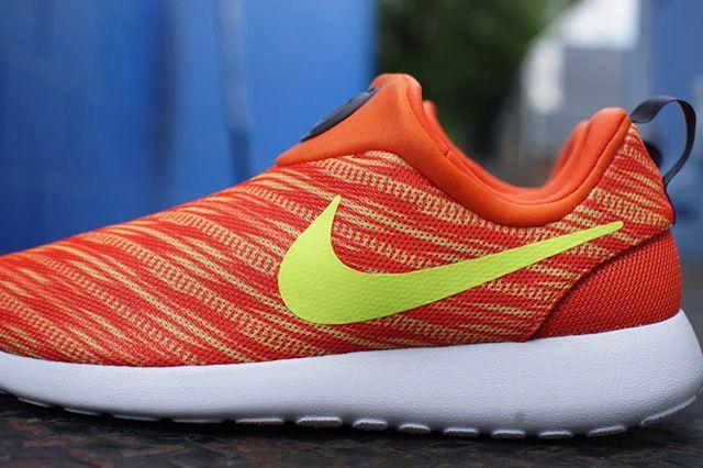 Nike Roshe Run Slip On Electric Orange Atomic Mango 2