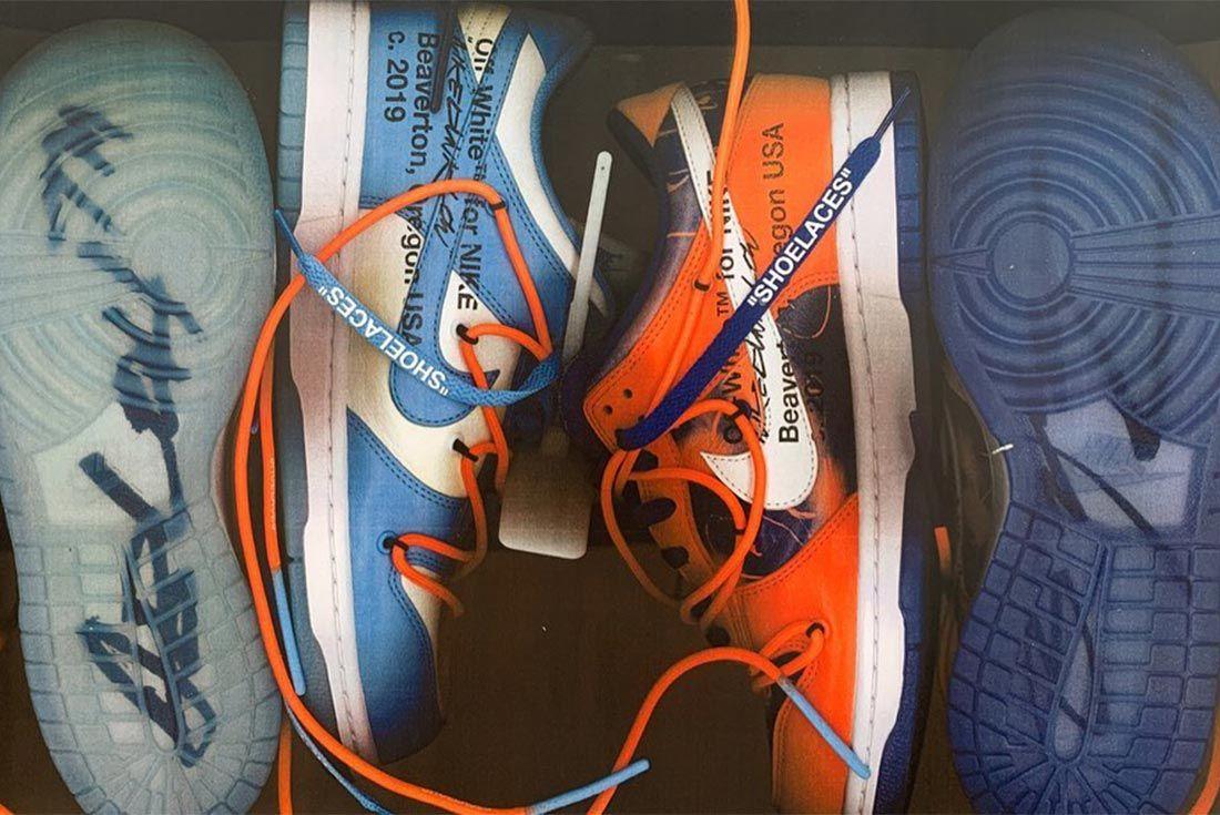 Virgil Abloh Nike Dunk Lateral Side Shot