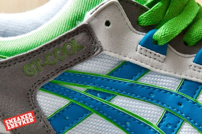 Asics Gt Cool Green White Blue 2 Midfoot Detail 1