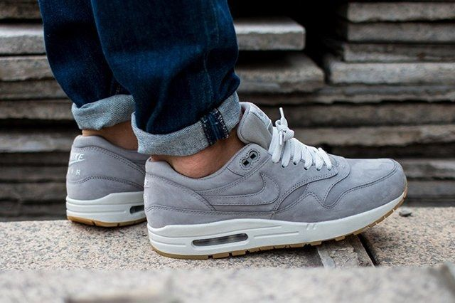 Nike Air Max 1 Leather Premium Medium Grey 3