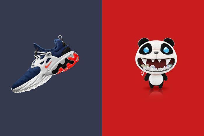 Nike Air Presto React Rabid Panda Graphic