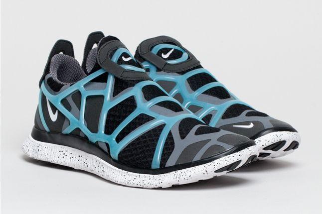 Nike Free Alt Closure Run Drkgrey Blue Front Quarter 1