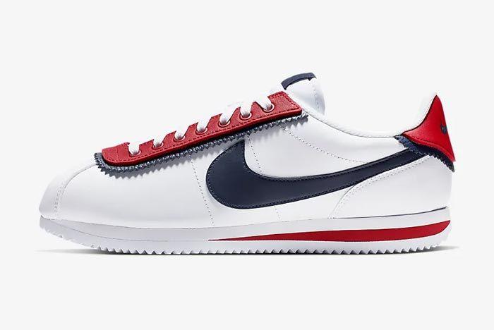 Nike Cortez Basic Se University Red Lateral