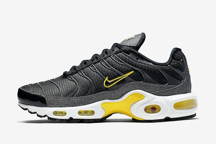 Nike Air Max Plus Black Active Yellow Cn0142 001 Lateral