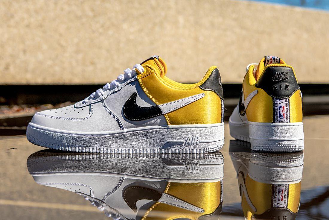 Nike Nba Air Force 1 Low Yellow Balck White