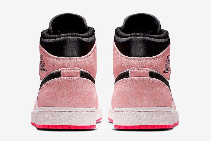 Air Jordan 1 Mid Crimson Tint Hyper Pink 852542 801 Release Date 5 Rear Pair Shot