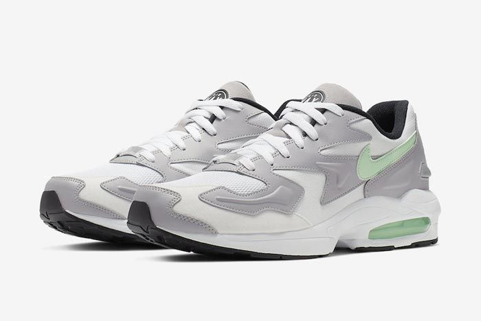 Nike Air Max2 Vast Grey Fresh Mint Pair
