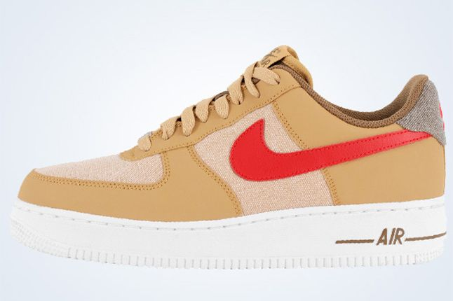 Nike Air Force 1 Low Jersey Gold White Canvas 3 1